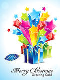 Abstract explode background with gifts Royalty Free Stock Photo