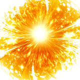 Abstract explosion. On a soft orange background Stock Image