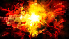 Abstract explosion. An illustration of an abstract explosion background Stock Photography