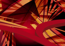 Abstract explosion. Abstract red explosion with spikes Royalty Free Illustration