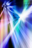 Abstract explosion. Abstract background in blue and green colors representing explosion and burst of energy Royalty Free Stock Photo