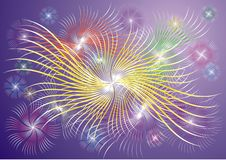 Abstract explosion background (fireworks). Color texture as abstract explosion background (fireworks Stock Photography