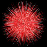 Abstract explosion burst of fireworks light. Abstract colorful explosion of fireworks against a dark background Stock Images