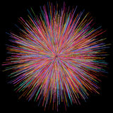 Abstract explosion burst of fireworks light. Abstract colorful explosion of fireworks against a dark background Royalty Free Stock Images