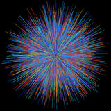 Abstract explosion burst of fireworks light Royalty Free Stock Image