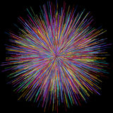 Abstract explosion burst of fireworks light. Abstract colorful explosion of fireworks against a dark background Royalty Free Stock Photo