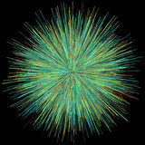 Abstract explosion burst of fireworks light. Abstract colorful explosion of fireworks against a dark background Royalty Free Stock Image