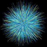 Abstract explosion burst of fireworks light Stock Photography