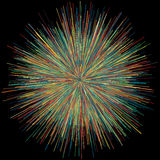 Abstract explosion burst of fireworks light Stock Images