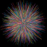 Abstract explosion burst of fireworks light Royalty Free Stock Photo