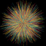 Abstract explosion burst of fireworks light Royalty Free Stock Images