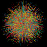 Abstract explosion burst of fireworks light Royalty Free Stock Photos