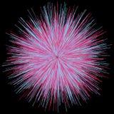 Abstract explosion burst of fireworks light Stock Photos