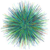 Abstract explosion burst of fireworks light. Abstract colorful explosion of fireworks against a white background Royalty Free Stock Image