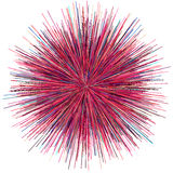 Abstract explosion burst of fireworks light. Abstract colorful explosion of fireworks against a white background Royalty Free Stock Images