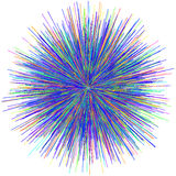 Abstract explosion burst of fireworks light. Abstract colorful explosion of fireworks against a white background Stock Photo