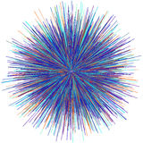Abstract explosion burst of fireworks light Royalty Free Stock Photography