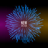 Abstract explosion lines firework concept. Technology modern design template. Light effect Royalty Free Stock Photography