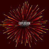 Abstract explosion lines firework concept. Technology modern design template. Light effect Stock Images