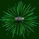 Abstract explosion lines firework concept. Technology modern design template. Light effect Royalty Free Stock Photo