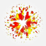 Abstract explosion particle diamond on a white background. Royalty Free Stock Photography