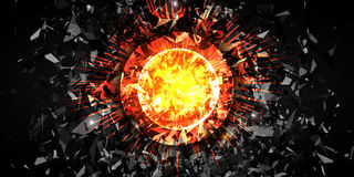 Free Abstract Explosion, Powerfull Burst. Vector Background. Stock Photos - 87743233