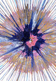 Abstract expressionism painting - Blueberry Pie Royalty Free Stock Photo