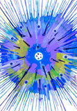 Abstract expressionism painting - Fish Eyes on Stock Photography