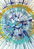 Abstract expressionism painting - Fresh Drops Royalty Free Stock Image