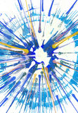 Abstract expressionism painting - Fresh Drops Stock Image