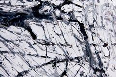 Abstract expressionismepatroon Stijl van druppel het schilderen Zwarte Stock Fotografie