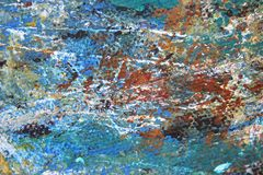 Abstract Expressionist Painted Background hand painted art. Abstract Expressionist hand painted Art on canvas macro colors and textures Stock Photos