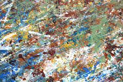 Abstract Expressionist Painted Background hand painted art. Abstract Expressionist hand painted Art on canvas macro colors and textures Royalty Free Stock Image