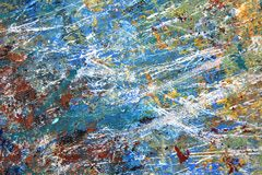 Abstract Expressionist Painted Background hand painted art. Abstract Expressionist hand painted Art on canvas macro colors and textures Stock Photography