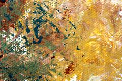 Abstract Expressionist Painted Background hand painted art. Abstract Expressionist hand painted Art on canvas macro colors and textures Royalty Free Stock Photos