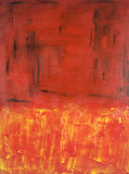 Abstract Expressionist painting in Red. Abstract acrylic expressionist painting on canvas royalty free stock image