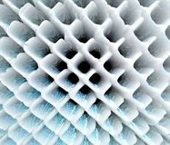 Abstract extruded grid pattern 3D illustration Royalty Free Stock Image