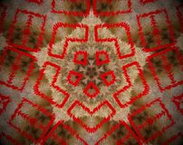 Abstract extruded mandala Stock Images