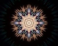 Abstract extruded mandala 3D illustration Stock Photos