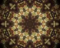 Abstract extruded mandala 3D illustration Stock Image