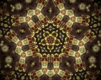 Abstract extruded mandala 3D illustration Stock Images