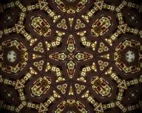 Abstract extruded mandala 3D illustration Royalty Free Stock Photos