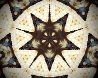 Abstract extruded mandala 3D illustration Royalty Free Stock Images