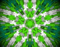 Abstract extruded mandala 3D illustration Stock Photo