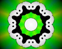 Abstract extruded mandala 3D illustration Royalty Free Stock Image