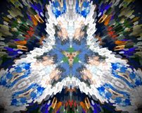 Abstract extruded mandala 3D illustration Stock Photo