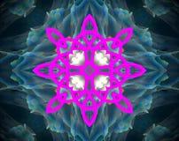 Abstract extruded mandala 3D illustration Royalty Free Stock Photo