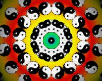 Abstract extruded mandala 3D illustration Stock Photography