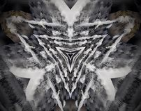 Abstract extruded mandala 3D illustration triangles Stock Photography