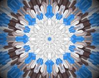 Abstract extruded mandala 3D illustration Royalty Free Stock Photo